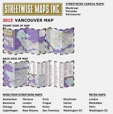 Map Of Metro In Rome by Streetwise Vancouver Map Laminated City Center Street Map Of