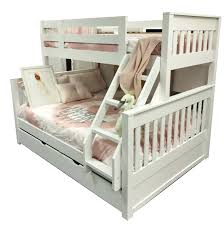 Riley Single Over Double Bunk Inc Trundle  In Stock Ready To Ship - Double bunk beds
