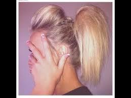 utube bump hair in a bob cheerleading hair tutorial the ponytail poof youtube