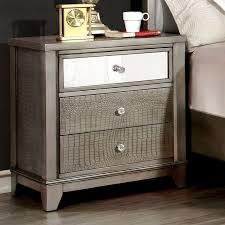 3 Drawer Nightstands Furniture Of America Aragon Faux Crocodile 3 Drawer Nightstand