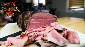 deli style roast beef at home smoked eye of round roast youtube