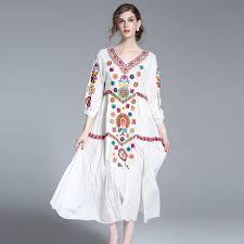 new arrival brand women spring long dress 2017 fashion designer