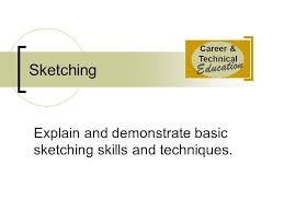 career u0026 technical education sketching explain and demonstrate