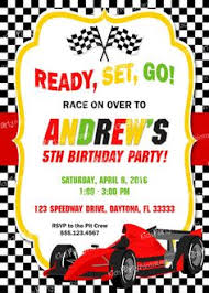 printable race car birthday party invitation by ciaobambino