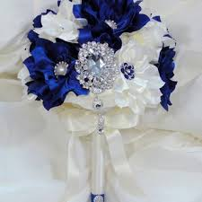 wedding flowers royal blue best blue and ivory wedding bouquet products on wanelo