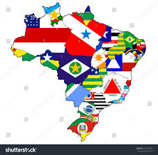 Brazil Map States by States Regions On Administration Map Brazil Stock Illustration
