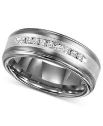 wedding bands for with diamonds triton s wedding band ring in stainless steel 1 6 ct