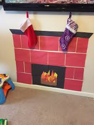 make your own fireplace all you need poster board construction