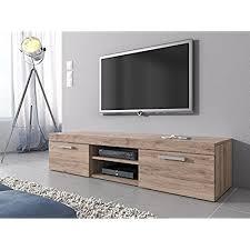light wood tv stand light oak tv unit amazon co uk