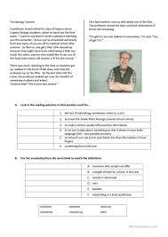 6 free esl biology worksheets