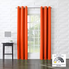 curtains bright orange curtains ideas burnt orange drapes single