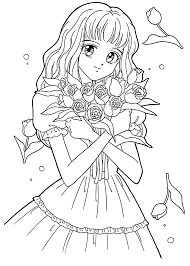 attractive design anime character coloring pages anime