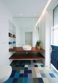 bathroom design idea an open shelf below the countertop 17