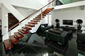 Black And White Home Design Inspiration Modern Black And White Living Room With Brown Accent Interior