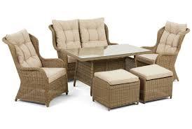 maze rattan winchester high back sofa dining set mode living