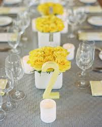 modern table numbers kate and sean u0027s yellow and gray rehearsal dinner in napa martha