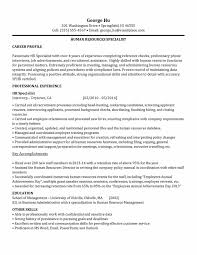 Sample Resume Hr by Training Specialist Resume Salary Package Template Professional