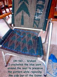 Fixing Patio Chairs Rving The Usa Is Our Big Backyard Re Weaving A Favorite Lawn Chair