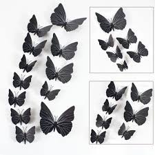 12pcs 3d butterfly art decal home decor pvc butterflies wall