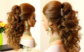 curly hairstyles for long hair for prom curly bridal hairstyle for