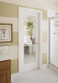 Modern Bathroom Door Mirror Door Modern Bathroom Sacramento By Homestory Easy