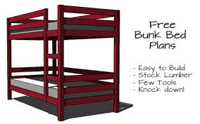 Woodworking Plans For Bunk Beds Free by Simple Bunk Bed Plans Few Tools Stock Lumber Woodwork City