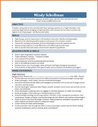 Resume For Flight Attendant Flight Attendant Resume Budget Template Letter