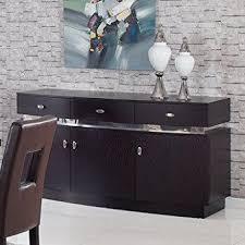 amazon com global furniture dining room set wenge silver