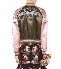 mytheresa com embroidered cotton and silk bomber jacket luxury