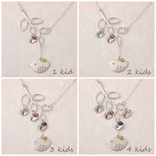 mothers necklace shop s necklace with kids birthstones on wanelo