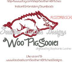 Arkansas Razorback Home Decor by Arkansas Razorbacks Applique Embroidery Design Wooo Pig Sooie