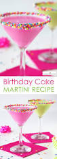 cocktail recipes birthday cake martini recipe easy party cocktail