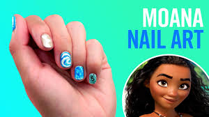 moana nail art tutorial tips by disney style youtube