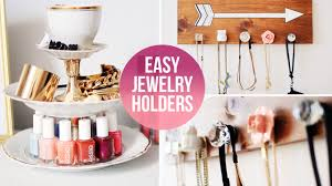 Pink Desk Organizers And Accessories by Easy Diy Jewelry Accessory Organizers Laurdiy Youtube