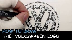 original volkswagen logo how to draw the volkswagen logo big fail included youtube