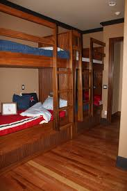 Built In Bunk Beds Bedroom Unique Brown Wooden Bunk Beds With Stairs On Dark Wood