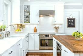 kitchen with white cabinets and wood countertops how to create a stunning kitchen design with