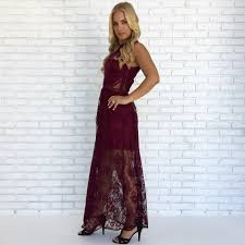 lace maxi dress southern lace maxi dress in wine dainty hooligan boutique