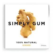 amazon com simply gum ginger natural chewing gum non gmo