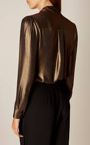 metallic blouse metallic bow blouse millen