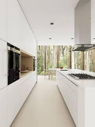 modern kitchens sydney interior minimalist design with white granite tile and counter