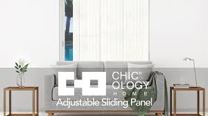 chicology home adjustable sliding panels youtube