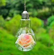 kisspat set of 2 hanging light bulb glass vase air plant