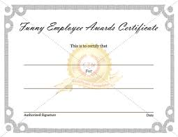 funny employee awards certificate certificate template