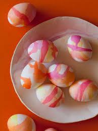 watercolor easter eggs spoon fork bacon