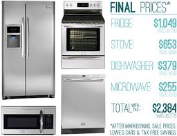 home appliances interesting lowes kitchen appliance how we saved money 63 off on our kitchen appliances young