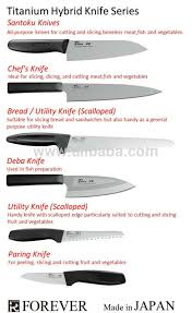 uses of kitchen knives titanium hybrid fish cutting knife suitable for home or