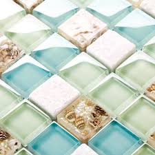 Aliexpresscom  Buy Blue Color Crystal Glass Mixed Sea Shell - Seashell backsplash