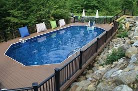 Inground Pool Ideas Semi Inground Pool Ideas Semi Inground Pool Deck Ideas Keystone
