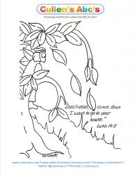 Zacchaeus Bible Memory Verse Coloring Page Online Preschool And Zacchaeus Coloring Page